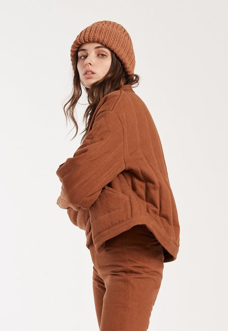 Kordal Reversible Quilted Jacket - Tobacco