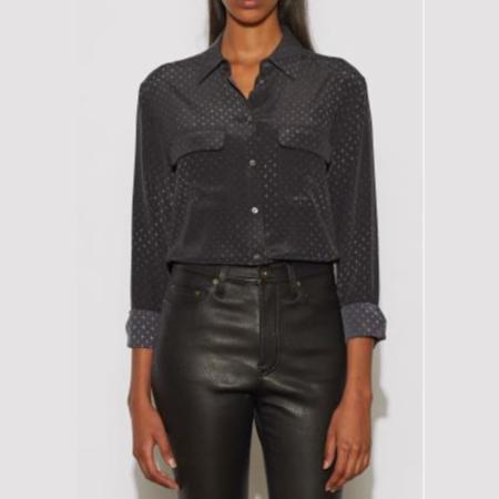 Equipment Signature Silk Shirt - True Black Multi