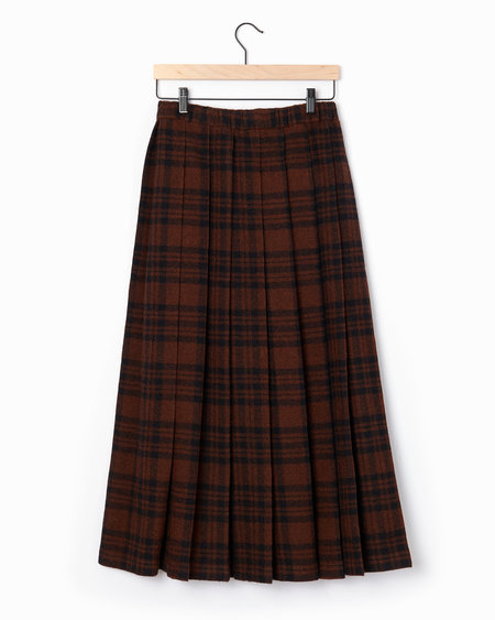 Aspesi Pleated Skirt - Brown/Black