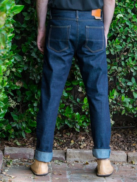 Tellason Elgin Mid Rise Slim Tapered Jeans - blue