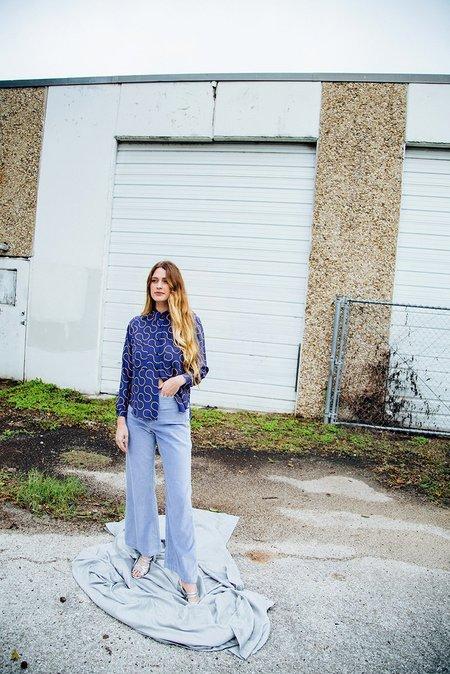 Dusen Dusen Arc Silk Work Shirt - Blue