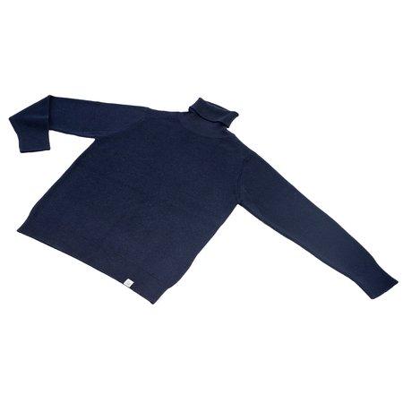 Merz b. Schwanen Merino Wool Classic Turtle Neck Pullover - Dark Navy