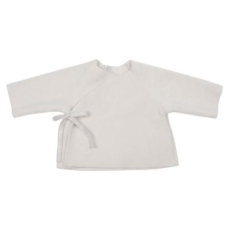 KIDS Makié Baby Fleece Kimono Jacket - Ivory Cream