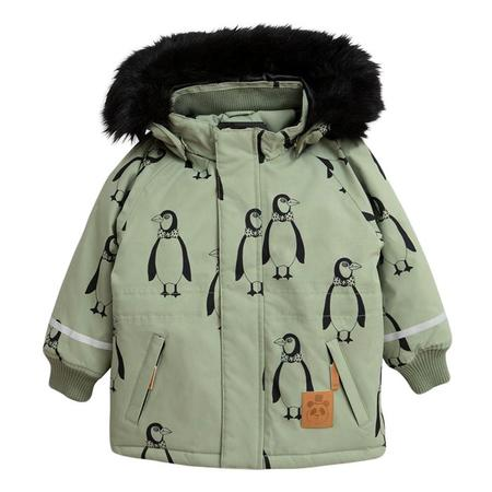 Kids Mini Rodini Baby and Child K2 Penguin Winter Coat - Green