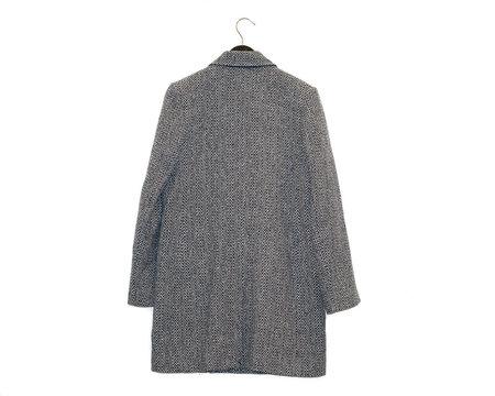 A.P.C. Manteau Joan Tweed Jacket - Navy Herringbone