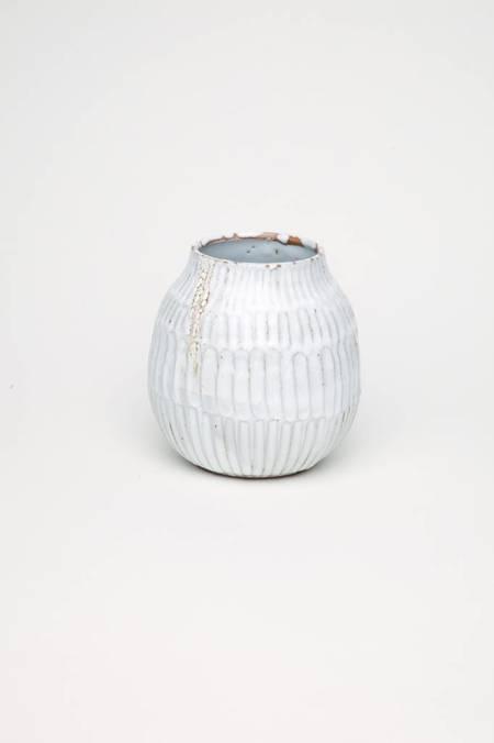 Alice Cheng Studio Carved Vase - White