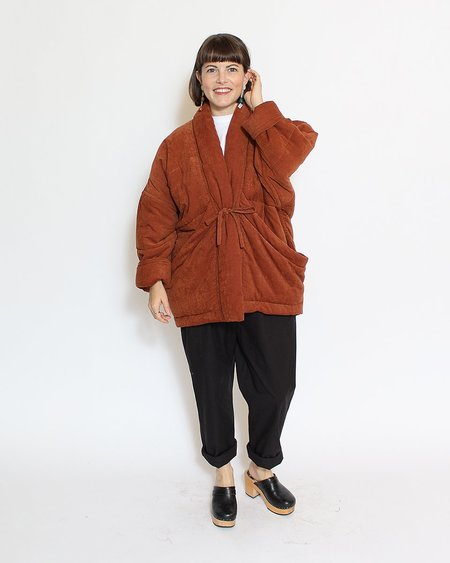 7115 by Szeki Sumo Quilted Jacket - Rust