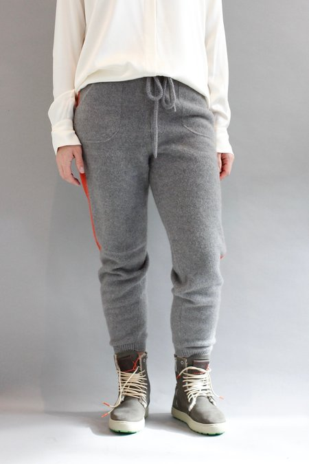 Unisex Elder Statesman Gofa Sweatpant - Light Grey/Persimmon