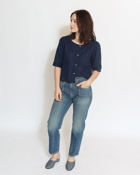 Sugar Candy Mountain The Irene Top - Navy