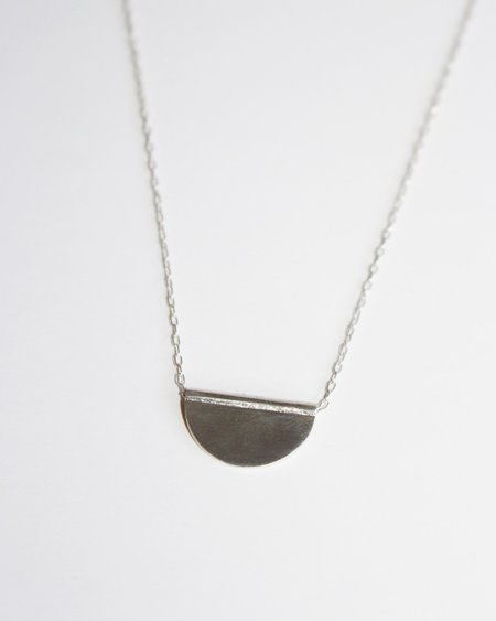 Claus Petite Half Moon Necklace - Sterling Silver