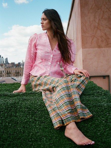 Nikki Chasin Satie Blouse - Pink Zebra