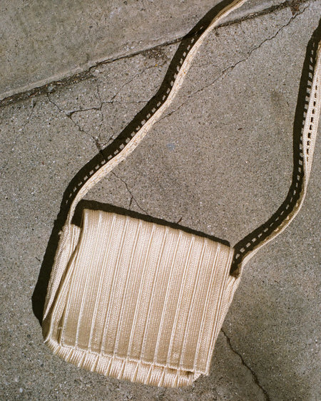 Peso Vintage Box Chain Bag - Natural