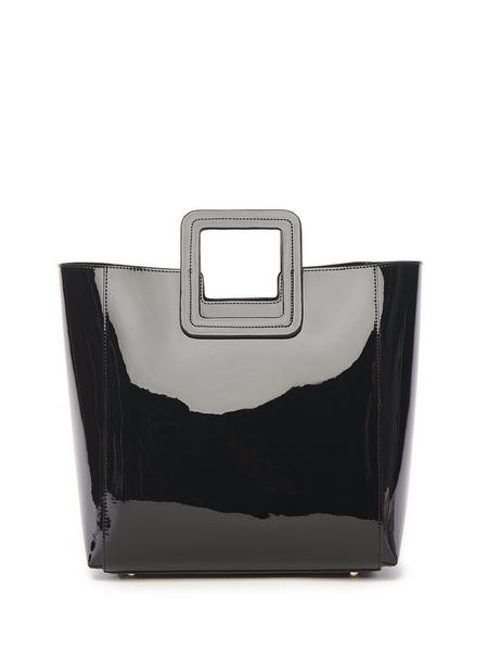 Staud Shirley Patent Bag - Black