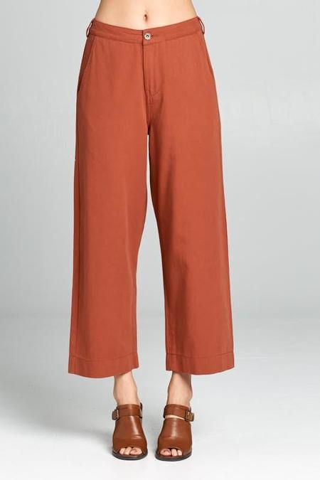 Ellison Emmett Wide Leg Jean Pants - Rust