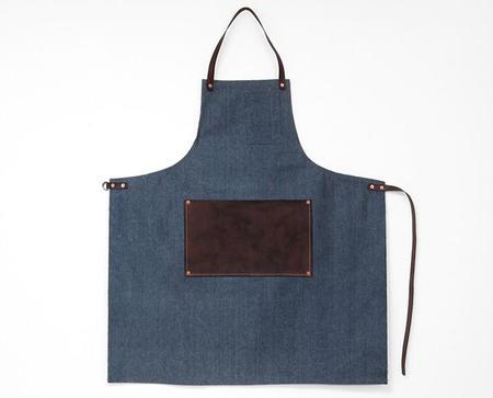 Apron & Bag Leather Lap Apron - Light Blue
