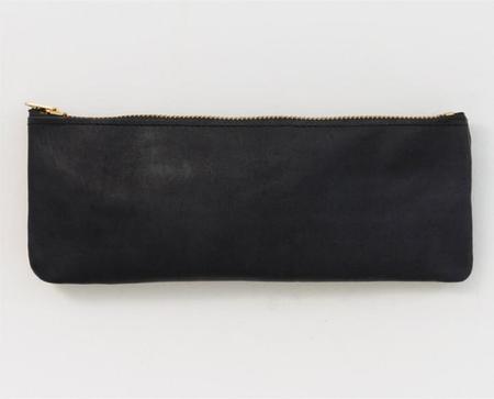 Apron & Bag Leather Pencil Pouch - Black
