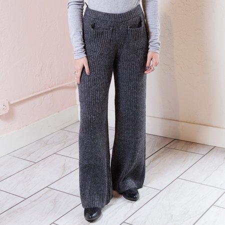 Native Youth Palladium Knitted Pant - Dark Gray