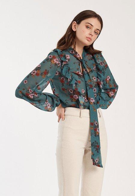 Fifth Label Keystone Tie Neck Top - Floral