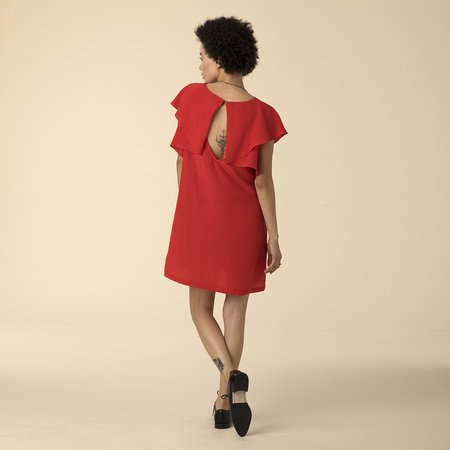 Ali Golden RUFFLE DRESS - red