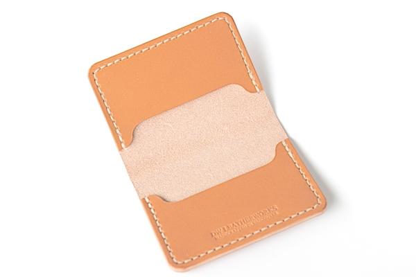 DW Leatherworks Folded Card Wallet - Tan