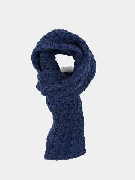 Blue Blue Japan Knitted Plump Up Loop Muffler - Navy