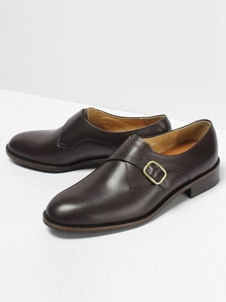 ROMANTIC MOVE Single Monk Strap - Burgundy