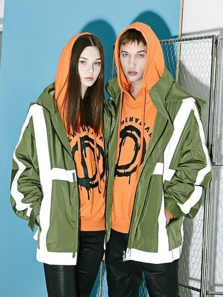 Unisex DBYDGNAK Scatch Windbreaker - Khaki/White