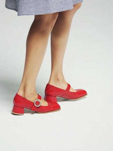 DITOLE Bobby Maryjane Shoes - Red