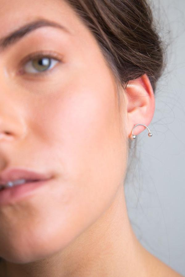 Katrine Kristensen Silver Bubble Rainbow Earring Single