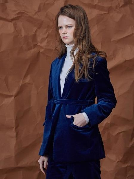 Agender Velvet Jacket - Blue
