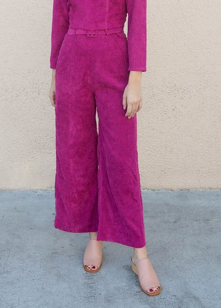 Samantha Pleet Tightrope Pants - MAGENTA