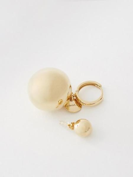 GABRIEL LEE Bold Drop Earrings - Gold