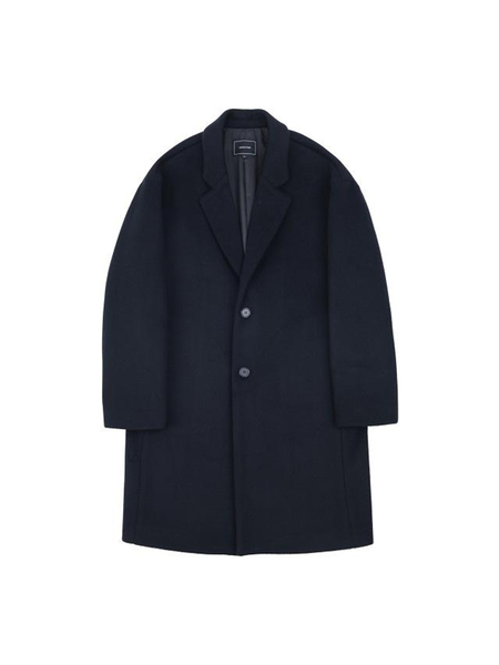 Unisex COSTUME O'CLOCK Oversized Wool Coat - Navy