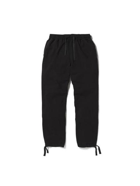 Aeca White Mid Terry String Long Pants - Black
