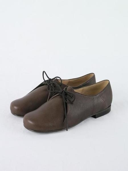 HEENN Lace-up Detail Pouch Shoes - Brown