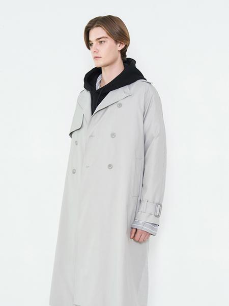 Unisex EVANLAFORET Trench Coat - Gray