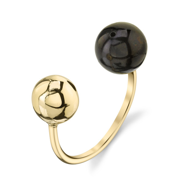 Gabriela Artigas Orbit & Black Pearl Ring