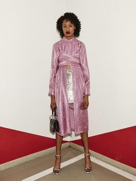 fleamadonna Twist Shirt Dress - Pink