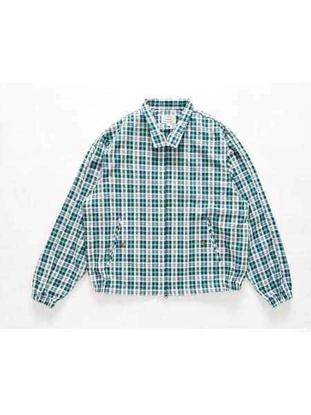 BRUMAN Check Harrington Jacket - Green