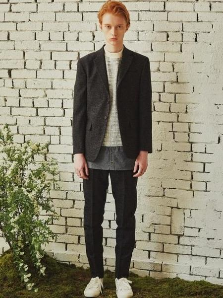 By Standard Heathered Homespun Wool Jacket - Black