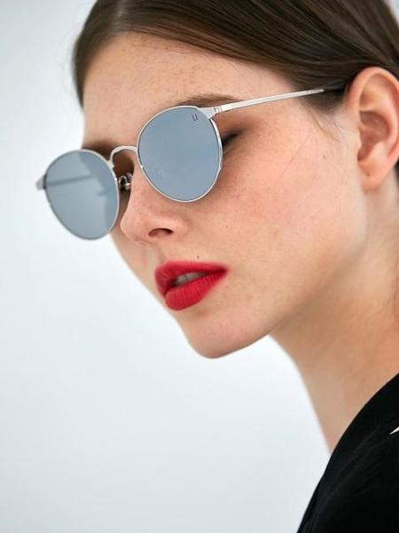 Unisex COLLABOTORY Monday Sunglasses - White/Silver Mirror