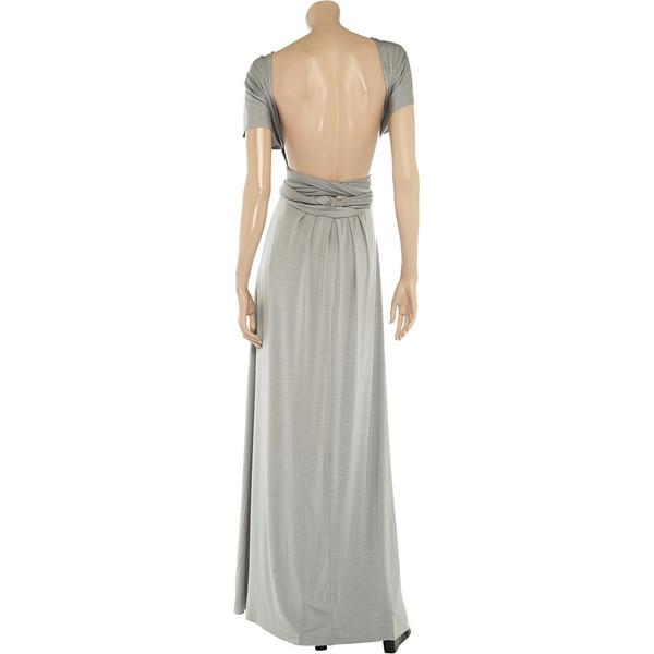 Stone floor length infinity dress