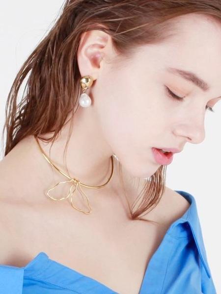 DE LA LUNE Petal Choker - Gold/Rose Gold