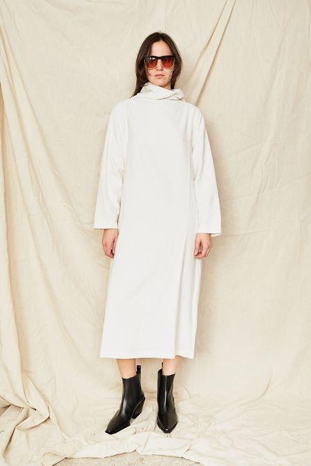 Black Crane Tube Dress - Cream