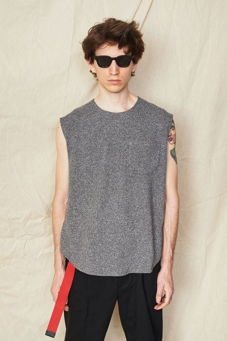Assembly New York Speckled Muscle Tee - Grey