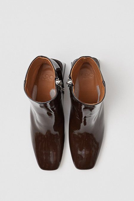 LOQ Patent Bombón Lazaro Boot - Chocolate Brown