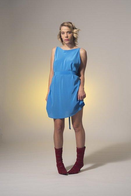 Miss Crabb Atomic Dress - Cinderella Blue