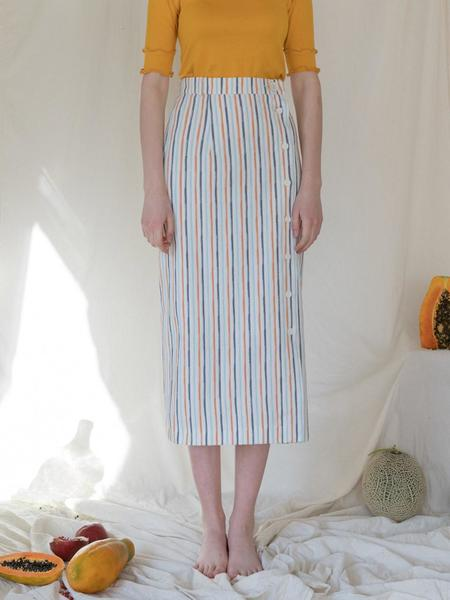 Among A PENCIL SKIRT - STRIPE