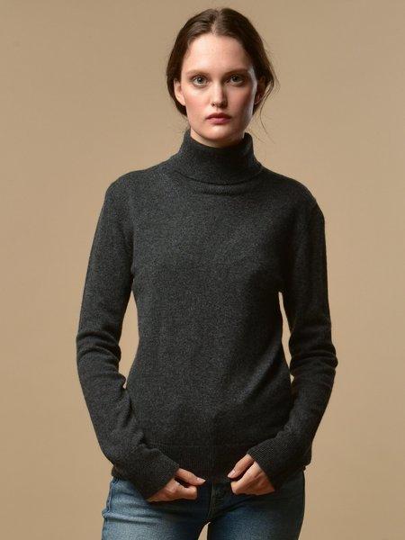 PURE CASHMERE NYC Turtleneck Sweater - Graphite