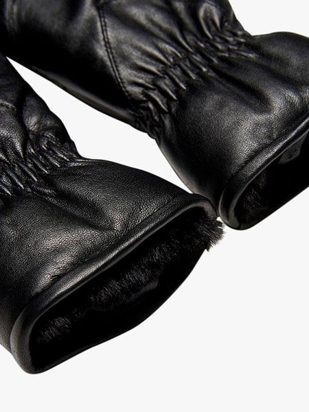 Bestseller ONLY Leather Mittens - black